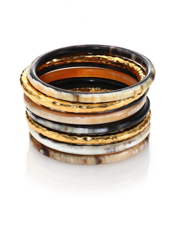 Horn And Gold Bangle