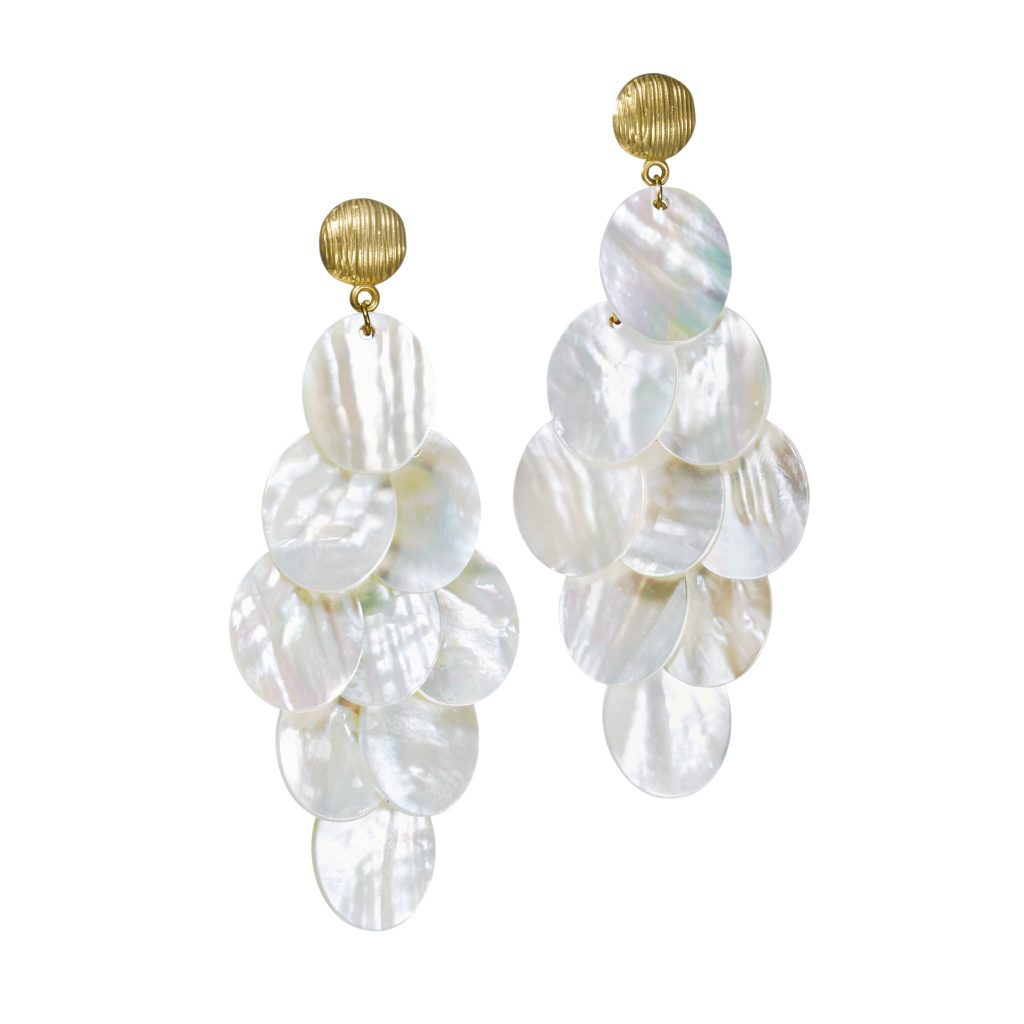 mother of pearl chandelier. Mother-of-Pearl Chandelier Earrings \u2013 Available Online At Neiman Marcus ($295) Mother Of Pearl